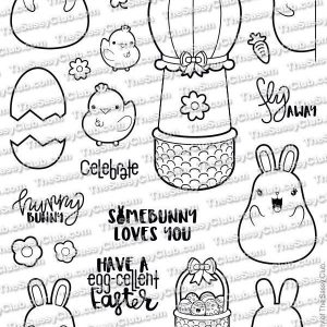 The Sassy Club, Chubby Bunnies stamp set, Australia