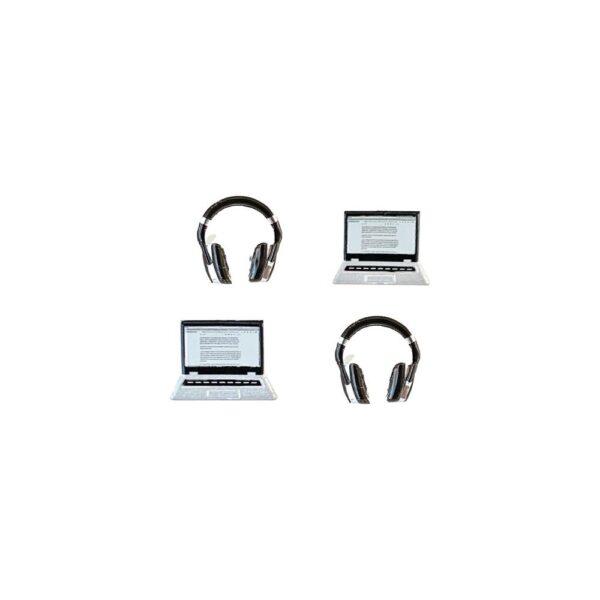Eyelet Outlet, Laptop & Headphone shaped brads, Australia