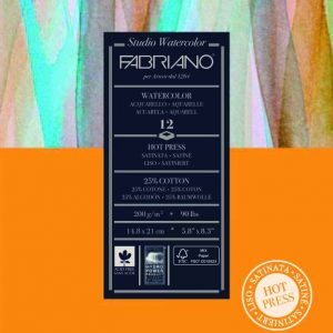 Fabriano, Hot Pressed Watercolour paper pad 200gsm, Australia