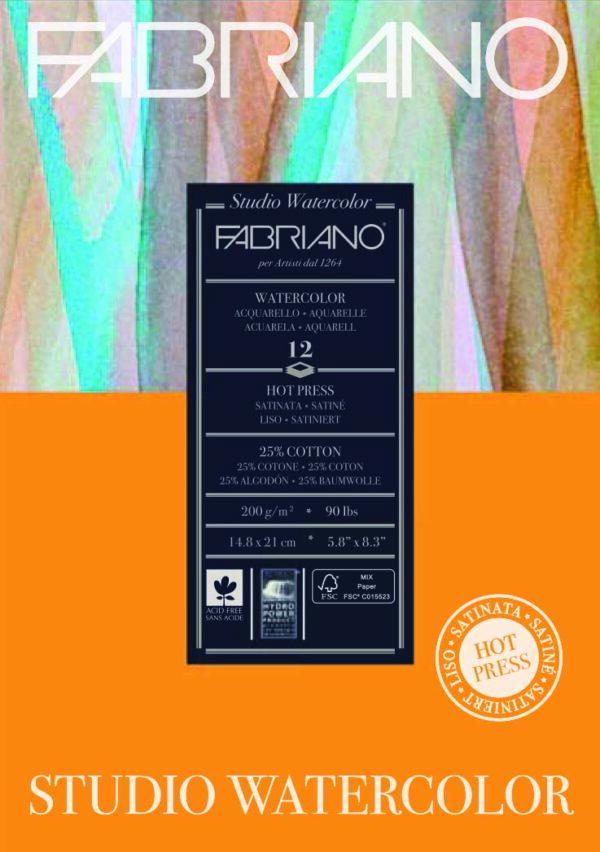 Fabriano, Hot Pressed Watercolour paper pad 200gsm, Australia
