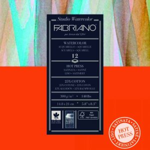 Fabriano, Hot Pressed Watercolour paper pad 300gsm, Australia