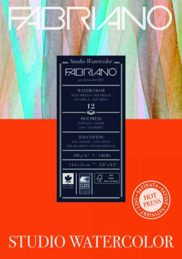 Fabriano, Hot Pressed Watercolour paper pad 300gsm, Australia