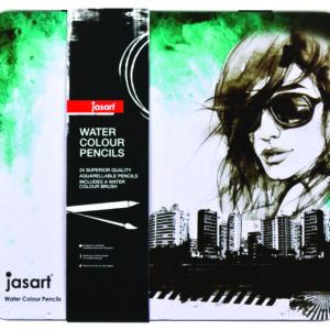 Jasart Studio Premium Watercolour Pencil tin 24, Australia