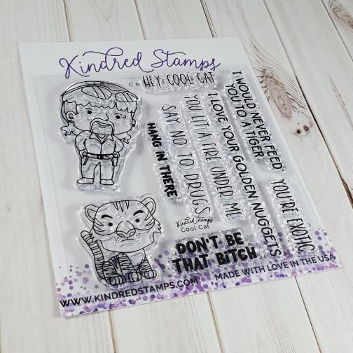 Kindred Stamps, Cool Cat stamp set, Australia