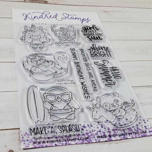 Kindred Stamps, Hello Summer stamp set, Australia