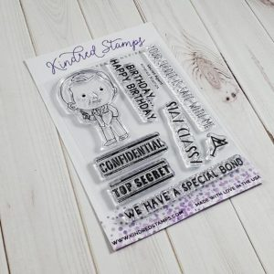 Kindred Stamps, Secret Agent stamp set, Australia