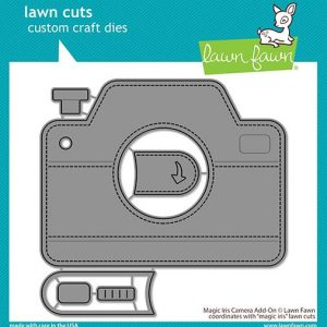 Lawn Fawn, Magic Iris Camera add on die set, Australia
