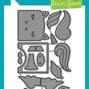 Lawn Fawn, Tiny Gift Box Unicorn and Horse add on die set, Australia