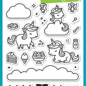 Lawn Fawn, Unicorn Picnic stamp set, Australia