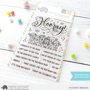 Mama Elephant, Hooray Wishes stamp set, Australia