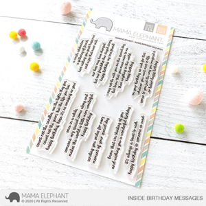 Mama Elephant, Inside Birthday Messages stamp set, Australia