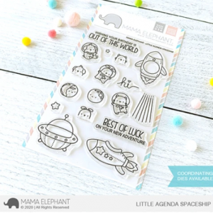 Mama Elephant, Little Agenda Spaceship stamp set, Australia