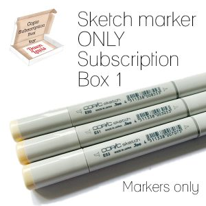 Sketch Markers Only Subscription Box graphic square