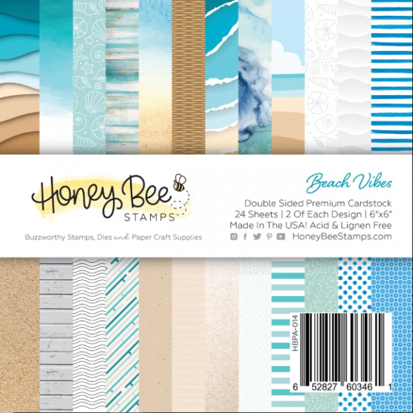 Honey Bee Stamps, Beach Vibes 6x6 paper pad, Australia