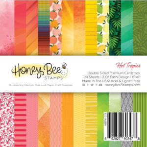 Honey Bee Stamps, Hot Tropics 6x6 paper pad, Australia