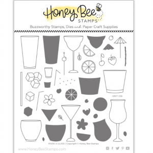 Honey Bee Stamps, Raise A Glass stamp set, Australia