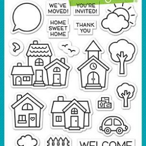 Lawn Fawn, Happy Village stamp set, Lawn Fawn
