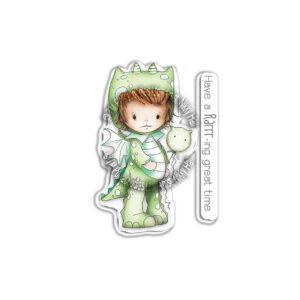 Polkadoodles, Little Dudes Dragon Dress Up stamp set, Australia