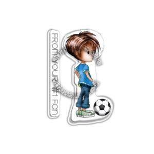 Polkadoodles, Little Dudes Football stamp set, Australia