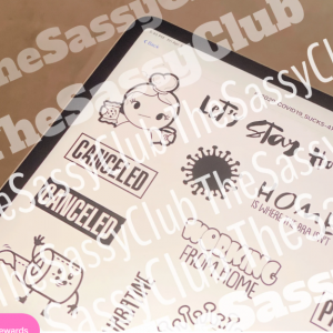 The Sassy Club, Corona Sucks stamp set, Australia
