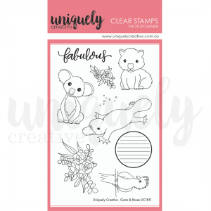 Uniquely Creative, Gums & Roses stamp set, Australia
