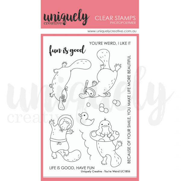 Uniquely Creative, You're Weird stamp set, Australia