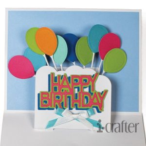 i-Crafter, Happy Birthday Wiper Insert die set, Australia