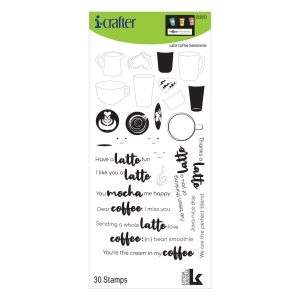 i-Crafter, Latte Coffee Sentiments stamp set, Australia