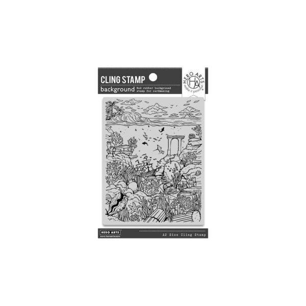 Hero Arts, Deep Sea Background stamp set, Australia