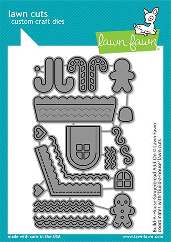 Lawn Fawn, Build A House Gingerbread add-on die set, Australia