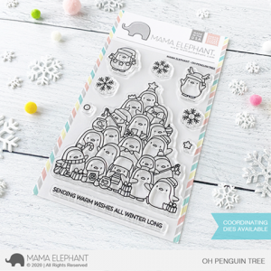 Mama Elephant, Oh Penguin Tree stamp set, Australia