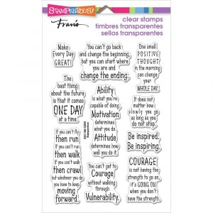 Stampendous, Courage Quotes stamp set, Australia