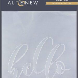 Altenew, Mega Hello embossing folder, Australia
