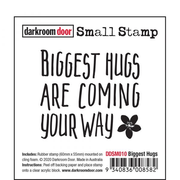 Darkroom Door, Biggest Hugs, small stamp, Australia