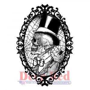 Deep Red, Cobweb Cameo cling stamp, Australia