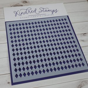 Kindred Stamps, Harlequin stencil, Australia