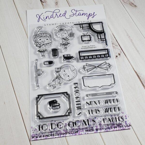 Kindred Stamps, Roaring Plans stamp set, Australia