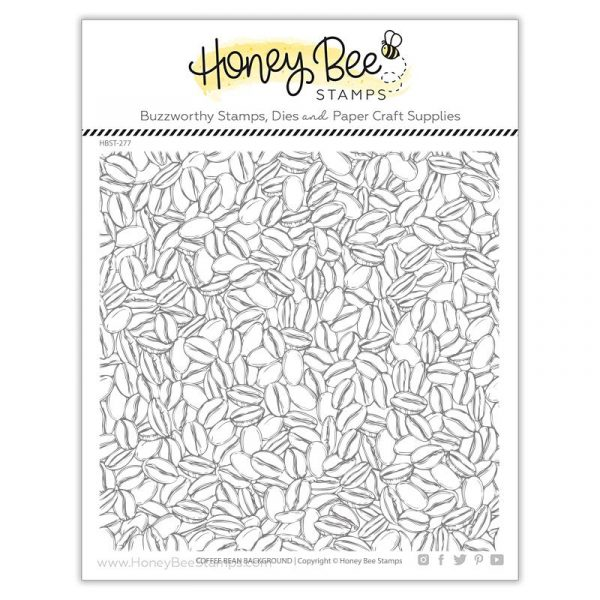 Honey Bee Stamps, Coffee Bean Background stamp set, Australia