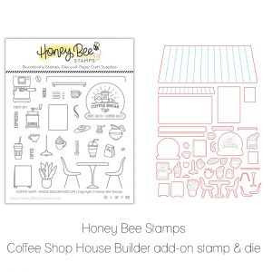 Honey Bee Stamps, Coffee Shop House Builder add on bundle, Australia