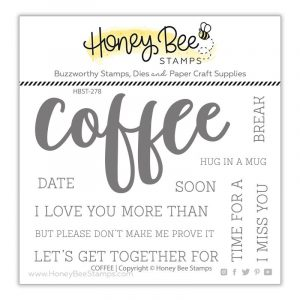 Honey Bee Stamps, Coffee stamp set, Australia