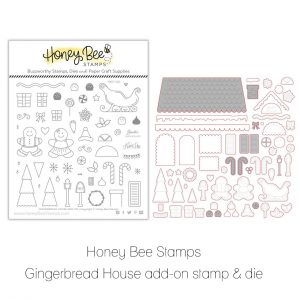 Honey Bee Stamps, Gingerbread House add on bundle, Australia