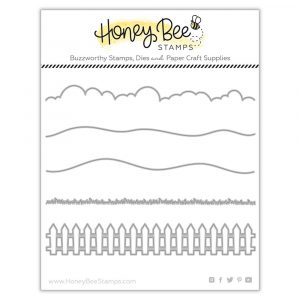 Honey Bee Stamps, Horizon Slimline Borders die set, Australia