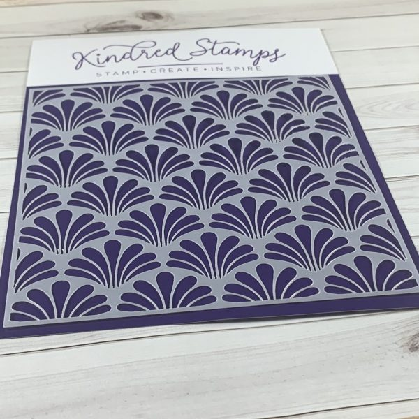 Kindred Stamps, Fancy Fans stencil, Australia