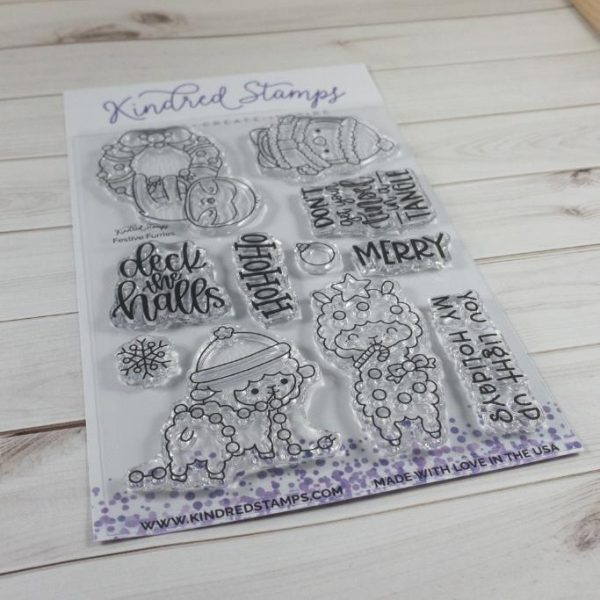 Kindred Stamps, Festive Furries stamp set, Australia