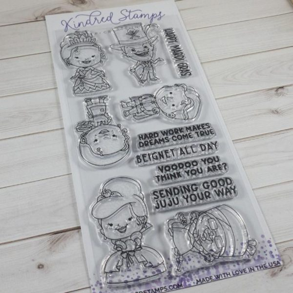 Kindred Stamps, Mardi Gras Majesty stamp set, Australia