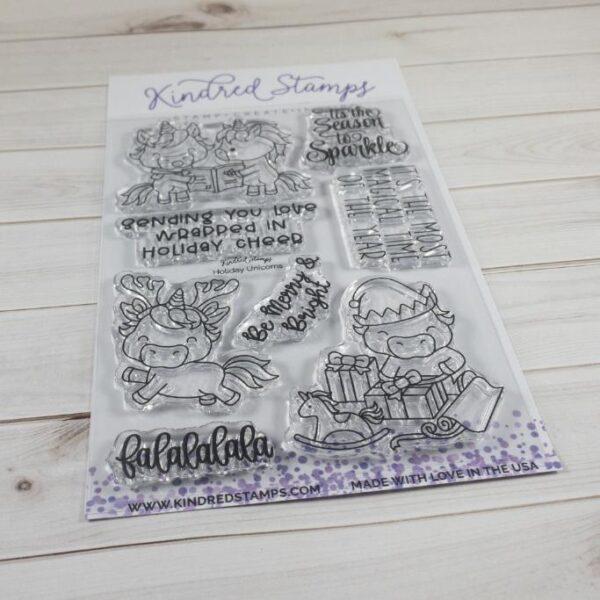 Kindred Stamps, Merry Unicorns stamp set, Australia
