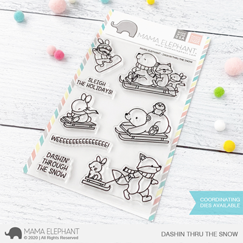 Mama Elephant, Dashin Thru The Snow stamp set, Australia