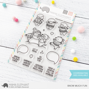Mama Elephant, Snow Much Fun stamp set, Australia