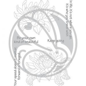 Rabbit Hole Designs, Turtle Botanical stamp set, Australia