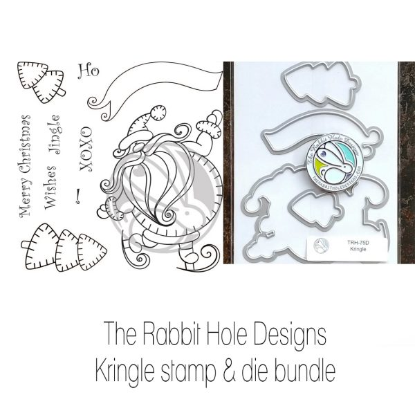The Rabbit Hole Designs, Kringle stamp & die bundle, Australia
